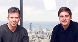 Armis co-founders Nadir Izrael (right) and Yevgeny Dibrov. Photo: Orel Cohen