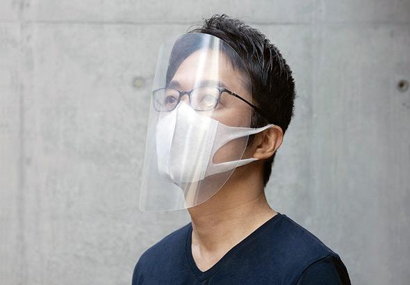 מגן הפנים שתכנן יושיוקה. להורדה חינם מהאתר שלו, צילום: Tokujin Yoshioka
