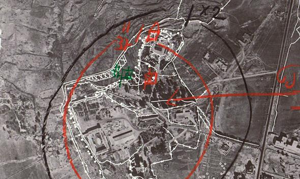 """תכנון הקרב של מתחם גבעת התחמושת, צילום: ארכיון צה""""ל"""