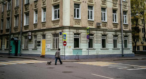 רחובות ריקים במוסקבה בשל הקורונה
