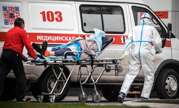 פינוי חולה במוסקבה