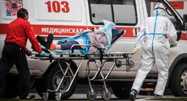 חולה קורונה במוסקבה, צילום: איי אף פי