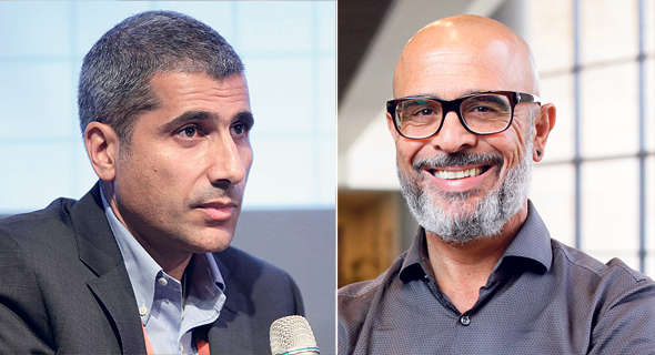 """משמאל: מנכ""""ל IBC אמיר לוי ומנכ""""ל פרטנר איציק בנבנישתי"""