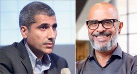 """משמאל: מנכ""""ל IBC אמיר לוי ומנכ""""ל פרטנר איציק בנבנישתי, צילומים: עמית שעל"""
