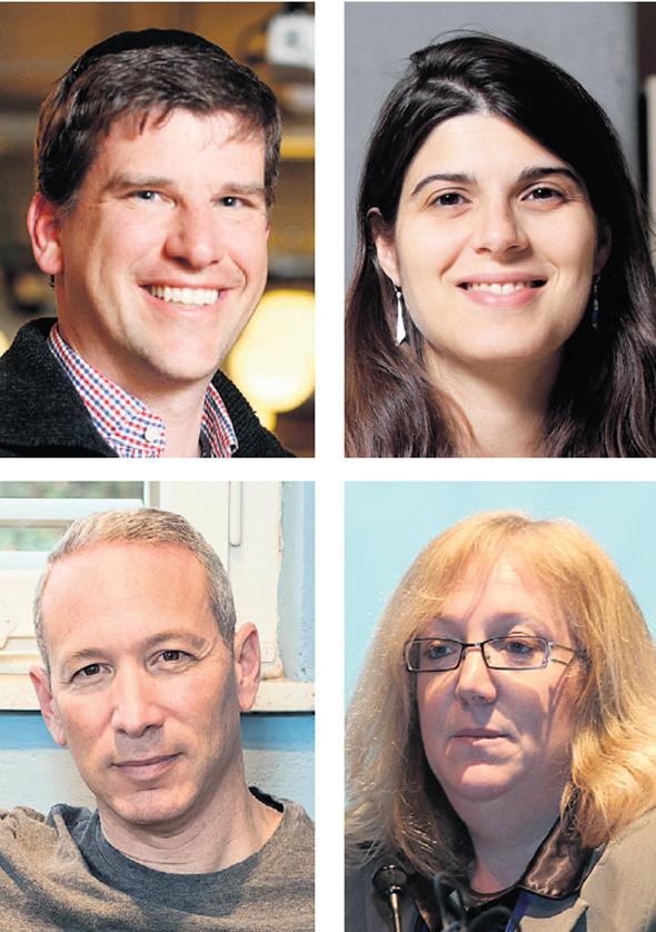 """מימין למעלה עם כיוון השעון: מייסדת Diagnostic Robotics קירה רדינסקי, ד""""ר דנה הלר, מייסד למונייד דניאל שרייבר ואיש העסקים מייקל אייזנברג"""
