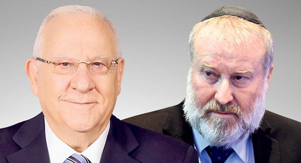 """מימין היועמ""""ש אביחי מנדלבליט ונשיא המדינה ראובן רובי ריבלין, צילום: יאיר שגיא, Amos Ben Gershom"""