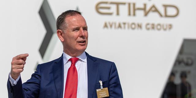 """טוני דאגלס, מנכ""""ל חברת התעופה איתיחאד, צילום: בלומברג"""