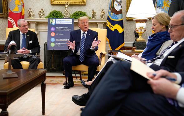 קורונה דונלד טראמפ הבית הלבן 30.4.20, צילום: איי פי