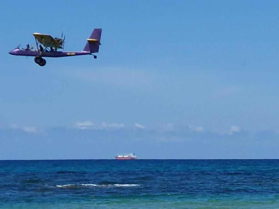 המטוס דקות לפני ההתרסקות