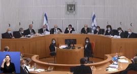 הדיון בעיתרות נגד נתניהו, צילום: צילום מסך
