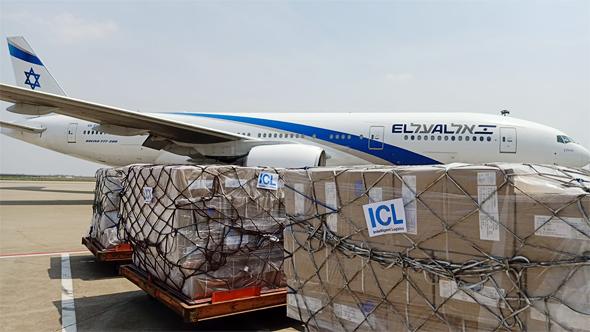 מטוס דרימליינר טיסת מטען של אל על ב וואהן סין עם ציוד הומניטרי 5, צילום: דוברות אל על