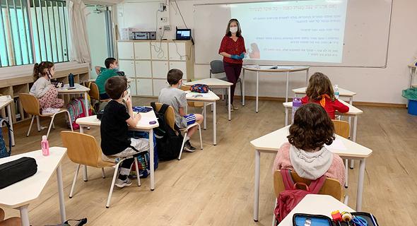 בית ספר בתל אביב עידן הקורונה, צילום: עיריית תל אביב-יפו