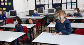 קורונה בית ספר פולה בן גוריון ב ירושלים 3.5.20, צילום: אלכס קולומויסקי