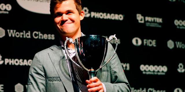 עוד תואר לאוסף: קרלסן זכה בטורניר השח אונליין החדש, הנוצץ והעשיר מכולם