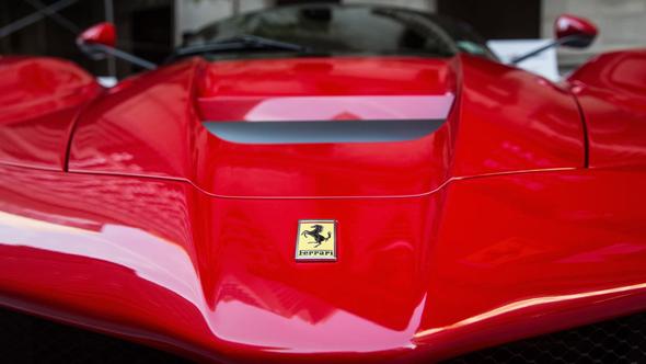מכונית פרארי בורסה ניו יורק, צילום: גטי