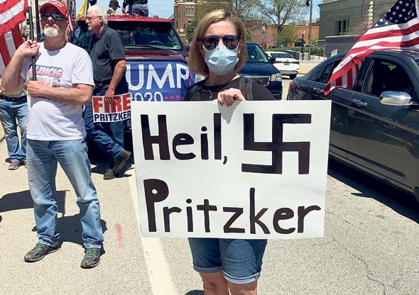 הפגנה נגד מושל אילינוי היהודי ג