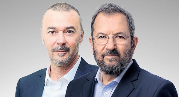 """מימין יו""""ר אינטרקיור אהוד ברק ובעל המניות הגדול בריגנרה מריוס נכט, צילום: יונתן בלום"""
