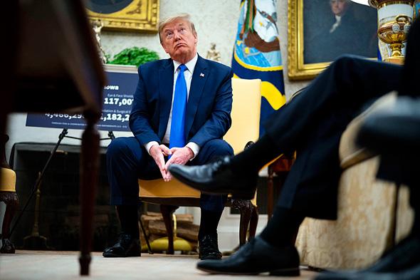 דונלד טראמפ הבית הלבן 6.5.20, צילום: Doug Mills
