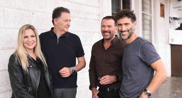 מימין: בועז דינטי, ארז שחר, דניאל סלוצקי וסיון שמרי דהן. שותפים בקומרה קפיטל, צילום: יחצ