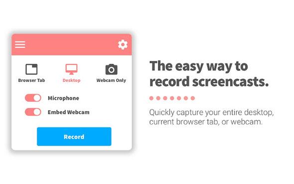 תוסף להקלטת מסך screencastify