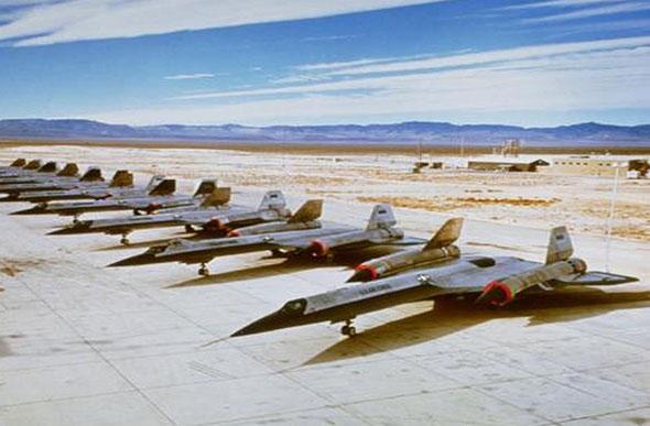 ליין מטוסי A12 בבסיס אזור 51, נבאדה, צילום: Lockheed Martin