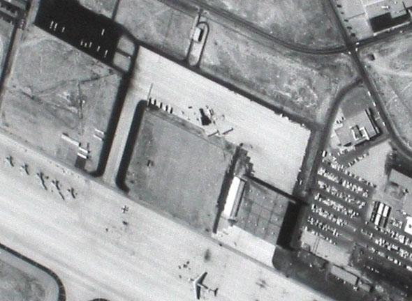 נמל תעופה שצולם מהאוויר במטוס הביון, צילום: CIA