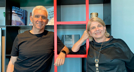 Alike founders Amnon Bar-Lev and Varda Shalev. Photo: Alike