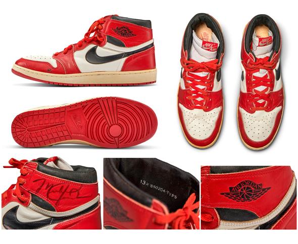 נעלי אייר ג'ורדן S1 נייקי 1985 מכירה פומבית 2, צילום: Sotheby's