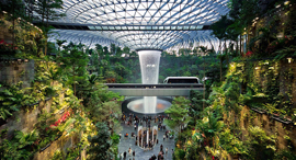 מקום 1. שדה התעופה צ'אנגי בסינגפור, צילום: ויקיפדיה