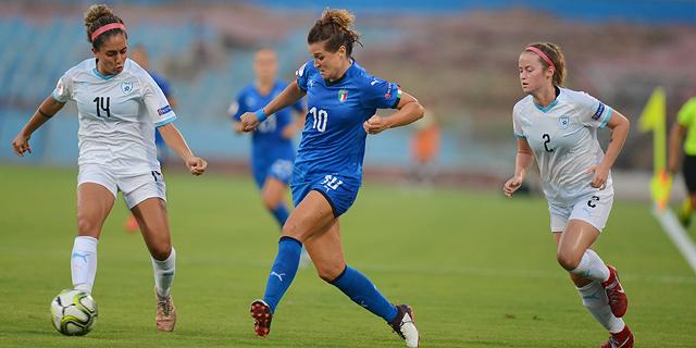 נבחרת הנשים של ישראל נגד איטליה, צילום: אבי רוקח