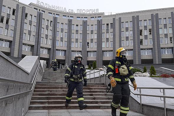 """שריפה בבי""""ח ברוסיה, צילום: אם סי טי"""