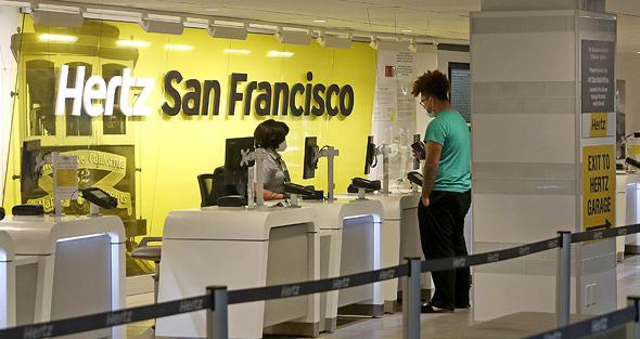 סניף הרץ בנמל התעופה של סן פרנסיסקו, צילום: איי אף פי