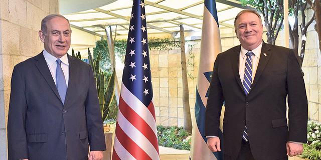 Benjmain Netanyahu hosts Mike Pompeo at his residence in Jerusalem. Photo: Kobi Gideon/GPO