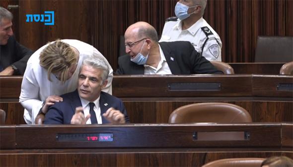 יאיר לפיד במליאה, צילום: ערוץ הכנסת