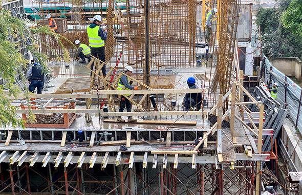 עובדי בנייה, צילום: נועה קסלר