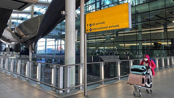 שדה התעופה הית'רו בלונדון בקורונה