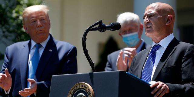 מונסף סלאווי עם טראמפ, צילום: איי פי