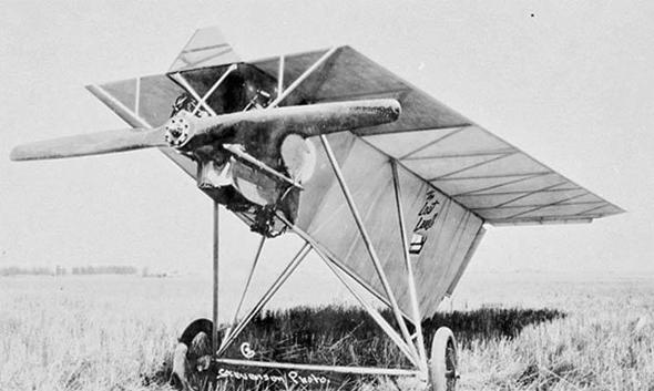 המטוס של סקרוגס, שהצליח לטוס, צילום: secretprojects