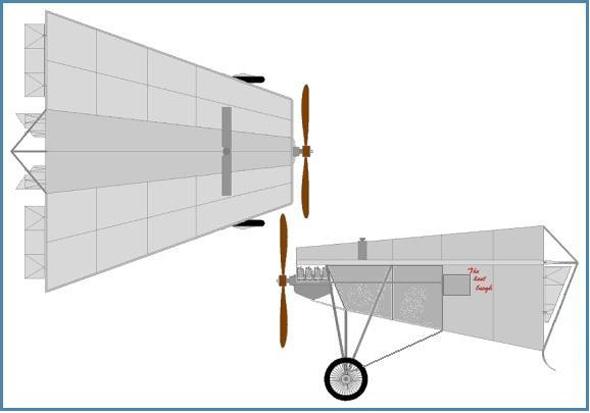 הפטנט של סקרוגס: מטוס בו הגוף הוא הכנף, צילום: Wikimedia