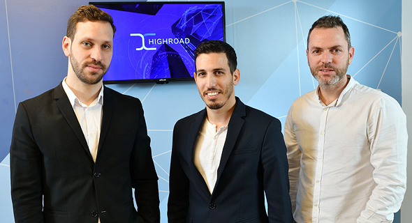 Highroad co-founders (from left) Eyal Hoffman, Eliran Binman and Guy Zaks. Photo: Israel Hadari