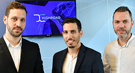 Highroad co-founders (from left) Eyal Hoffman, Eliran Binman and Guy Zaks. Photo: Israel Hadari