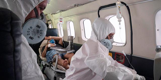 העברת חולה במטוס, ברזיל, צילום: איי פי