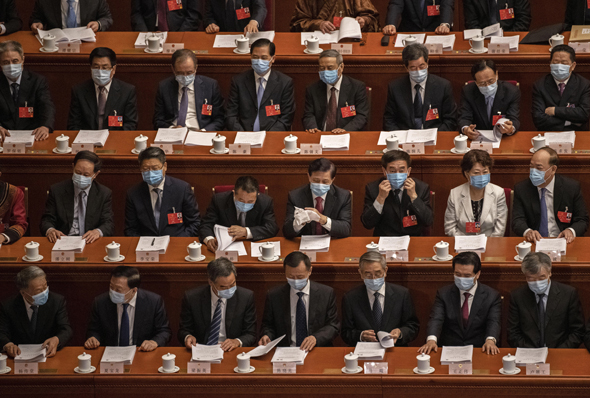 חברי פרלמנט בסין, צילום: גטי