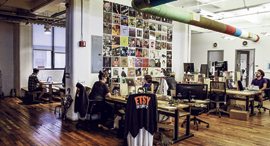 פנאי משרדי אטסי ב ברוקלין ב־2015, צילום: בלומברג