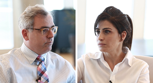 שיחת ועידה פסגות אורי גרינפלד ו אילנית שרף, צילום: אוראל כהן, טל אזולאי
