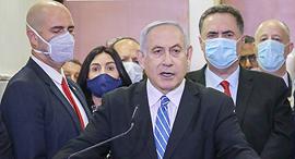 נתניהו במשפטו שנפתח במחוזי ירושלים, צילום: יונתן זינדל/פלאש90