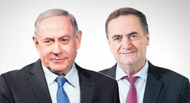 שר האוצר ישראל כץ ו ראש הממשלה בנימין נתניהו, צילום: יאיר שגיא, אלכס קולומויסקי