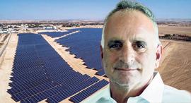 """חן מלמד מנכ""""ל משקי אנרגיה שדות סולאריים ב כפר טראבין אל סאנע ב נגב, צילום: דאוד עבד אל חי"""