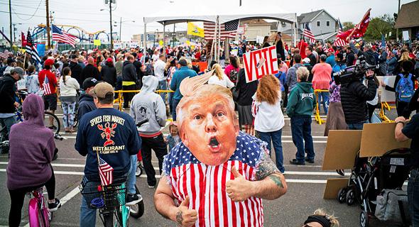 הפגנה נגד דונלד טראמפ  ניו ג'רזי בדרישה לפתיחת עסקים