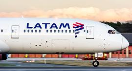 מטוס של חברת התעופה LATAM, צילום: שאטרסטוק